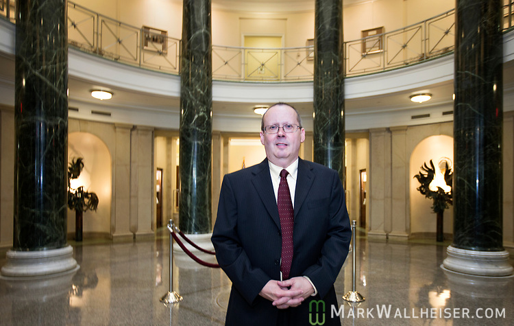 Craig Waters, Director of Public Information for the Florida Supreme Court inside the Supreme Court building in Tallahassee, Florida.