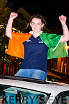BRINGING HOME THE SILVERWARE: 16 year old Georgia O'Brien from Bonane, Kenmare pictured as she arrives home to a bonfire welcome last Sunday night in Kenmare after her triumphant silver medal winning performance in rowing at the Home Internationals in Cardiff.