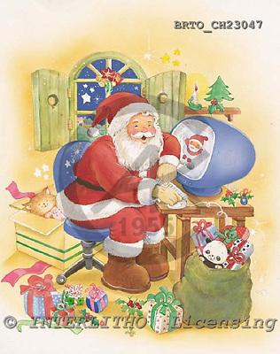 Alfredo, CHRISTMAS SANTA, SNOWMAN, paintings, BRTOCH23047,#X# Weihnachtsmänner, Schneemänner, Weihnachen, Papá Noel, muñecos de nieve, Navidad, illustrations, pinturas