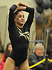 Lauren Gomes of Commack performs her floor routine during the Suffolk County varsity girls' gymnastics individual championships at Babylon High School on Friday, November 6, 2015. She won the all-around with a score of 37.325.<br /> <br /> James Escher