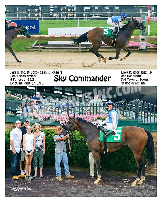 Sky Commander winning at Delaware Park on 7/30/16