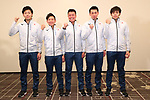 Japan team group (JPN), <br /> JANUARY 23, 2018 - Curling : <br /> New uniform presentation press conference <br /> for Olympic Winter Games PyeongChang 2018 <br /> in Tokyo, Japan. <br /> (Photo by YUTAKA/AFLO SPORT)