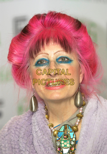 ZANDRA RHODES.UK FIFI Awards of the fragrance foundation.The Dorchester Hotel.London, 25 April 2005.portrait headshot pink red dyed hair blue eyeshadow make-up.Ref: PL.www.capitalpictures.com.sales@capitalpictures.com.©Capital Pictures