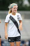 07 September 2014: Penn State's Emily Ogle. The Duke University Blue Devils hosted the Penn State University Nittany Lions at Koskinen Stadium in Durham, North Carolina in a 2014 NCAA Division I Women's Soccer match. PSU won the game 4-3.
