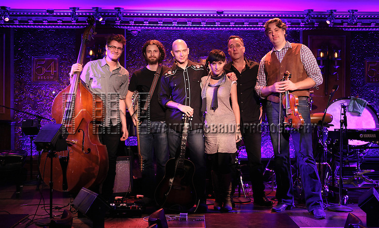 Michael Cerveris & Loose Cattle featuring Gabriel Caplan, Michael Cerveris  and Kimberly Kaye performing a press preview at 54 Below on 10/24/2012 in New York City.