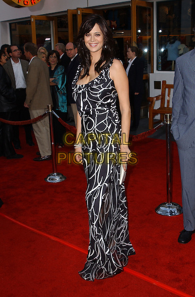 CATHERINE BELL.Bruce Almighty LA Film Premiere.www.capitalpictures.com.sales@capitalpictures.com.©Capital Pictures.black and white dress