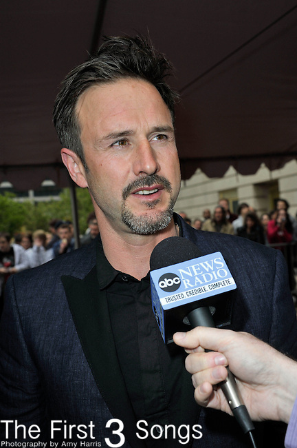 David Arquette attends the Rock & Roll Hall of Fame Induction Ceremony in Cleveland, Ohio on April 14, 2012.