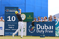 Raffa Cabrera Bello (ESP) on the 10th tee during Round 2 of the Dubai Duty Free Irish Open at Ballyliffin Golf Club, Donegal on Friday 6th July 2018.<br /> Picture:  Thos Caffrey / Golffile