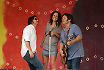 Johnny & Sarah Lee Irion joining Martin Sexton performing on Rainbow Stage during the Clearwater's Great Hudson River Revival Music & Environmental Festival 2011 at Croton Point Park, Croton-on-Hudson, NY on Saturday June 18, 2011. Photo copyright Jim Peppler/2011.