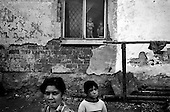 Rakusy, Slovakia Republic.July 1997.A gypsy settlement of more than 1000 people in North-Eastern Slovakia..