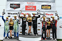 IMSA Continental Tire SportsCar Challenge<br /> Lime Rock Park 120<br /> Lime Rock Park, Lakeville, CT USA<br /> Saturday 22 July 2017 <br /> 27, Mazda, Mazda MX-5, ST, Britt Casey Jr, Matt Fassnacht, 25, Mazda, Mazda MX-5, ST, Chad McCumbee, Stevan McAleer, 84, BMW, BMW 328i, ST, James Clay, Tyler Cooke<br /> World Copyright: Richard Dole<br /> LAT Images<br /> ref: Digital Image RD_LRP_17_01189