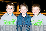 Sean Horan, Denis O'Mahony and Emmett Horan from Scartaglin enjoying the Kingdom Greyhound Stadium Night at the Dogs on Friday.