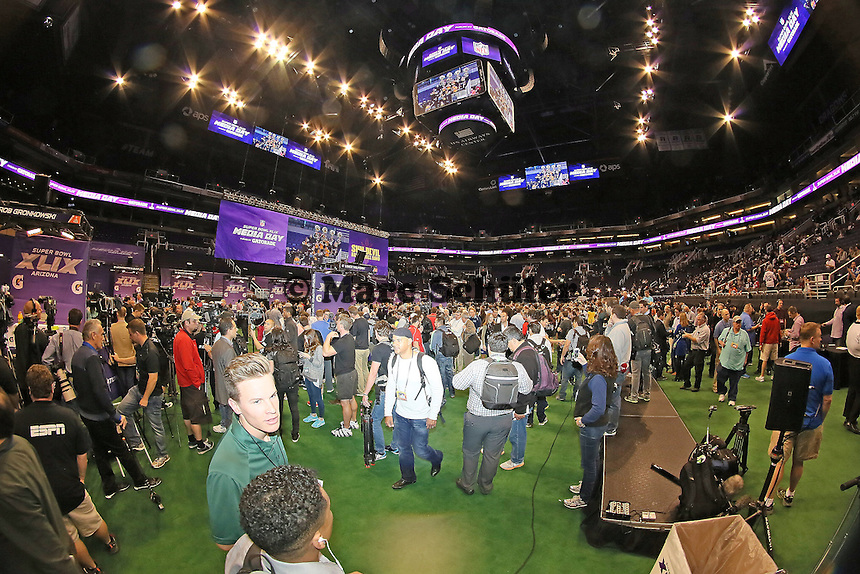 - Super Bowl XLIX Media Day, US Airways Center, Phoenix