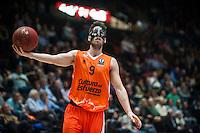 VALENCIA, SPAIN - NOVEMBER 18: Sam Van Brossom during EUROCUP match between Valencia Basket Club and CAI SLUC Nancy at Fonteta Stadium on November 18, 2015 in Valencia, Spain