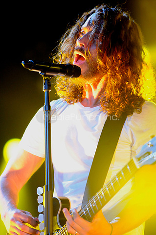 Soundgarden performing at The UIC Pavillion in Chicago, Illinois. <br />