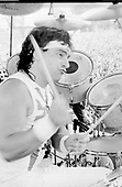 DIO - Drummer Vinny Appice - performing live at the Monsters of Rock Festival at Castle Donington UK - 20 Aug 1983.  Photo credit: PG Brunelli/IconicPix