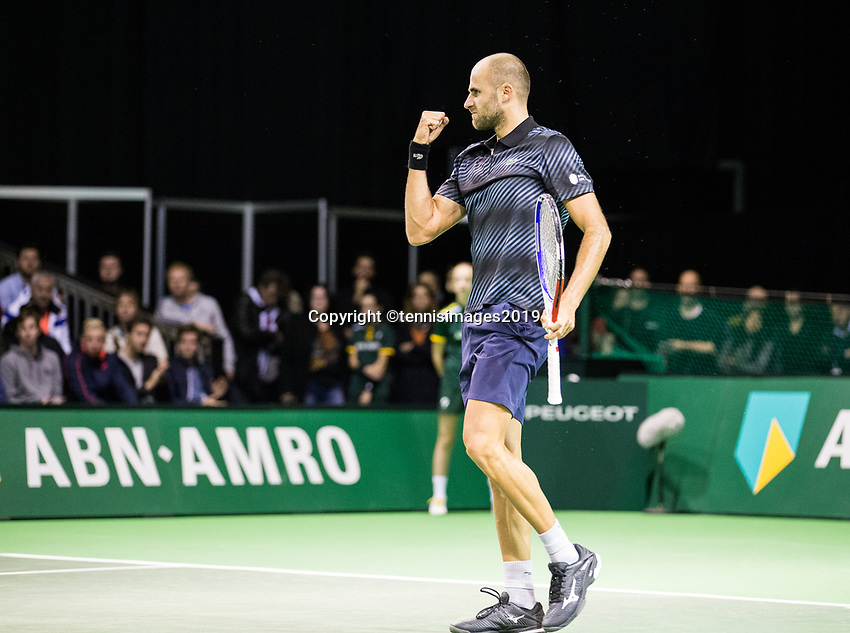Rotterdam, Netherlands, 9 februari, 2019, Ahoy, Tennis, ABNAMROWTT, MARIUS COPIL (ROU) Photo: Henk Koster/tennisimages.com