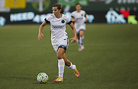 Portland, Oregon - Wednesday September 7, 2016: Portland Thorns FC midfielder Tobin Heath (17) during a regular season National Women's Soccer League (NWSL) match at Providence Park.