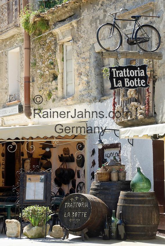 Italy, Calabria, beach resort Protea: Trattoria La Botte (the barrel) at old town