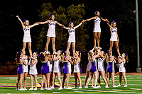 Amador Valley High School Cheerleaders perform on the new field Friday Sept.1, 2017. California. (Photo by Alan Greth/ (AGP Productions)