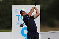 Ricardo Santos (POR) on the 9th tee during Round 1 of the Challenge Tour Grand Final 2019 at Club de Golf Alcanada, Port d'Alcúdia, Mallorca, Spain on Thursday 7th November 2019.<br /> Picture:  Thos Caffrey / Golffile<br /> <br /> All photo usage must carry mandatory copyright credit (© Golffile | Thos Caffrey)