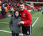 John Fleck of Sheffield Utd is presented with the supporters player of the year award during the championship match at the Bramall Lane Stadium, Sheffield. Picture date 28th April 2018. Picture credit should read: Simon Bellis/Sportimage