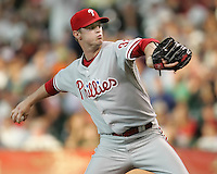Philadelphia Phillies pitcher Kyle Kendrick on Thursday May 22nd at Minute Maid Park in Houston, Texas. Photo by Andrew Woolley / Four Seam Images..