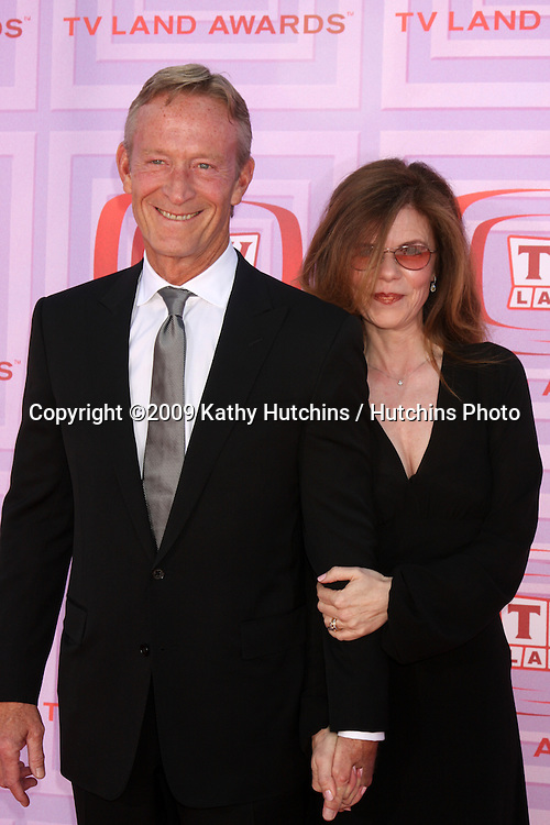 Ted Shackleford & wife Annette Wolfe  arriving at the TV Land Awards at the Gibson Ampitheater at University City,  California on April 19, 2009.©2009 Kathy Hutchins / Hutchins Photo....                .