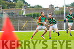 Darran O'Sullivan Mid Kerry wins the kick out againstoes past Patrick Kearney St Brendans during their County Championship game in Fitzgerald Stadium on Sunday