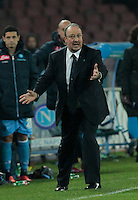 Rafael Benitez   in action during the Italian Serie A soccer match between SSC Napoli and Chievo  at San Paolo stadium in Naples, January 25, 2014