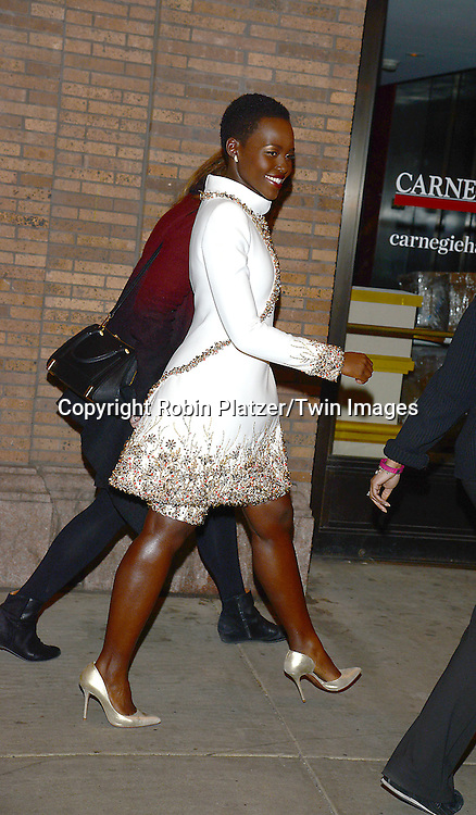 Lupita Nyong'o  attends the Glamour Women of the Year Awards on November 10, 2014 at Carnegie Hall in New York City. <br /> <br /> photo by Robin Platzer/Twin Images<br />  <br /> phone number 212-935-0770