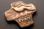 Peace plaque with dove
