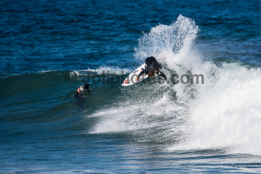 BELLS BEACH, Victoria/AUS (Wednesday, April 12, 2017) Matt Wilkinson (AUS) - The opening day of the Rip Curl Pro Bells Beach, the third stop on the World Surf League (WSL) Championship Tour (CT), saw incredible performances as the event ran through women&rsquo;s Rounds 1, 2 and 3 in three-to-five foot (1 - 2 metre) conditions at Bells Beach.<br /> <br /> Reigning WSL Champion Tyler Wright (AUS) put on a clinic today at Bells Beach with a phenomenal performance in both Round 1 and Round 3. Wright posted an outstanding 17.00 two-wave combined score in Round 1 and continued to showcase her flair with an 18.47 in Round 3. Wright&rsquo;s wins today earn her a place in the Quarterfinals and moves her one step closer to ringing the coveted Bell for the first time. Sage Erickson (USA) and local favorite Nikki Van Dijk (AUS) were not able to challenge Wright in Round 3 and will be sent to elimination Round 4 for one final opportunity to make the final series.<br /> A warm-up free surf session for the men took place at Winki Pop for most of the afternoon. <br />  <br /> Photo: joliphotos.com