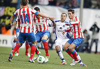 Getafe's Mehdi Lacen against Atletico de Madrid's Koke during King's Cup match. December 12, 2012. (ALTERPHOTOS/Alvaro Hernandez) /NortePhoto