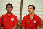 06 September 2008: Michael Orozco (USA) (left) and Steve Cherundolo (USA) (right) traveled with the team but did not dress for this game. The United States Men's National Team defeated the Cuba Men's National Team 1-0 at Estadio Nacional de Futbol Pedro Marrero in Havana, Cuba in a CONCACAF semifinal round FIFA 2010 South Africa World Cup Qualifier.