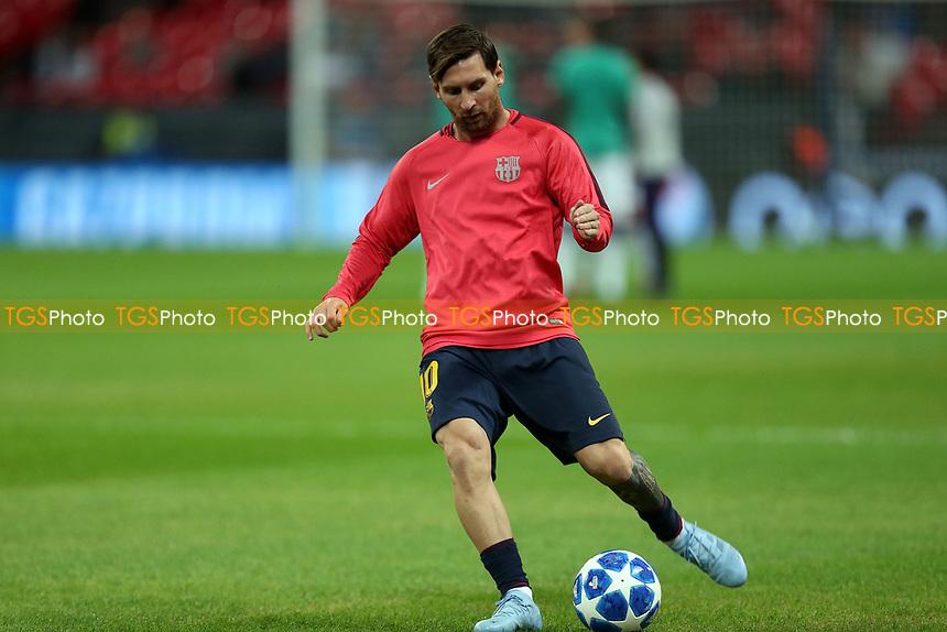 Lionel Messi of FC Barcelona during Tottenham Hotspur vs FC Barcelona, UEFA Champions League Football at Wembley Stadium on 3rd October 2018
