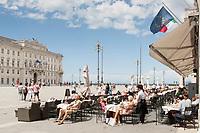 Caffe' degli Specchi on Piazza Untia' d' Italia, Trieste, Italy