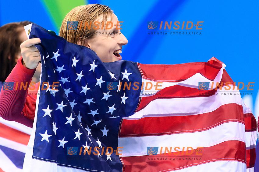 LEDECKY Katie USA Gold Medal and World Record Women's 400m freestyle <br /> Rio de Janeiro 07-08-2016 Olympic Aquatics Stadium <br /> Swimming Nuoto <br /> Foto Andrea Staccioli/Deepbluemedia/Insidefoto