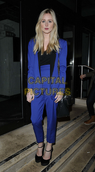 Diana Vickers.attended the Drapers Inspiring Indies Awards 2013, Kensington Roof Gardens, Kensington High St., London, England..February 11th, 2013.full length blue trousers black blazer suit top high waisted ankle strap shoes.CAP/CAN.©Can Nguyen/Capital Pictures.