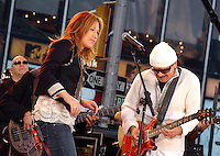 Carlos Santana performs in Times Square cica 2004