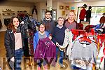 Sanja Pemic, Janet O'Donoghue, David Lampkin, Mossie Pierse, Finbar McCArthy in the St Vincent de Paul charity shop in Killarney