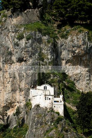 Church in mountain above Atrani, Amalfi Coast, Italy