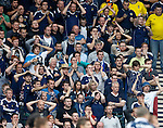Scotland fans react after a last gasp miss