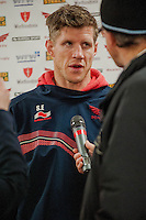 Saturday 10 May 2014<br /> Pictured: Simon Easterby<br /> Re: Scarlets v Blues Rabo Direct Pro 12 Rugby Union Match at Parc y Scarlets, Llanelli, Wales