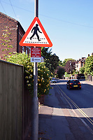 Police CCTV warning sign on Rosary Road, Norwich in an attempt to stop kerb crawling. UK July 2019