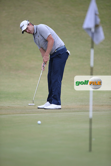 Neil Schietekat (RSA) putts for birdie on the 5th during Round Two of the Africa Open 2015 at the East London Golf Club, East London, Eastern Cape, South Africa. Picture:  David Lloyd / www.golffile.ie. 06/03/2015
