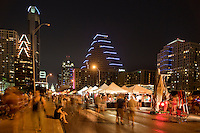 Batfest!, features Arts, Crafts, Music, Food, Bat Watching, Children's Activities, and Educational Displays. Estimated attendance is around 40,000! With Scenic backdrop of Town Lake and downtown Austin. Come out and see between 1.5 and 2 million Mexican Free Tail Bats while shopping for creative items made in Austin. See over 20 bands on two stages.