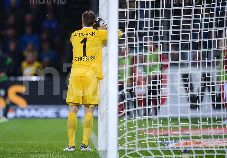 FUSSBALL   1. BUNDESLIGA   SAISON 2012/2013  5. SPIELTAG  26.09.2012 SC Freiburg - SV Werder Bremen Torwart Oliver Baumann (SC Freiburg)