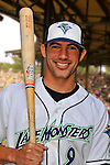 24 June 2008: Vermont Lake Monsters outfielder Brian Pruitt. Baseball Card Image for 2008. For in-house use by the Vermont Lake Monsters Only. Editorial or other use of images by other publications or media outlets must secure licensing from the photographer Ed Wolfstein prior to publication, and is based on standards of circulation, and placement in a given publication...Mandatory Credit: Ed Wolfstein.