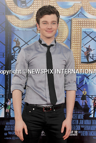 "CHRIS COLFER.attends the World Premiere of ""Glee The 3D Concert Movie"" at the Regency Village Theater, Westwood, Los Angeles_06/08/2011.Mandatory Photo Credit: ©Crosby/Newspix International. .**ALL FEES PAYABLE TO: ""NEWSPIX INTERNATIONAL""**..PHOTO CREDIT MANDATORY!!: NEWSPIX INTERNATIONAL(Failure to credit will incur a surcharge of 100% of reproduction fees).IMMEDIATE CONFIRMATION OF USAGE REQUIRED:.Newspix International, 31 Chinnery Hill, Bishop's Stortford, ENGLAND CM23 3PS.Tel:+441279 324672  ; Fax: +441279656877.Mobile:  0777568 1153.e-mail: info@newspixinternational.co.uk"